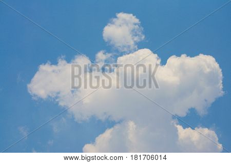 Sky and Cloud. On the bright. Background and Texture.