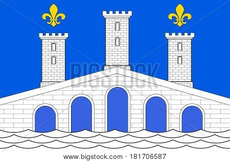Flag of Villeneuve-sur-Lot is a town and commune in the southwestern French department of Lot-et-Garonne
