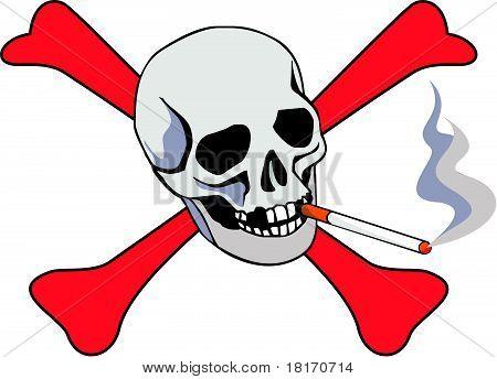Cigarette with skull