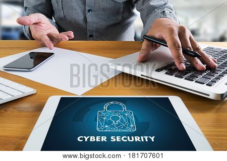 Cyber Security Business, Technology,firewallantivirus Alert Protection Security And Cyber Security F
