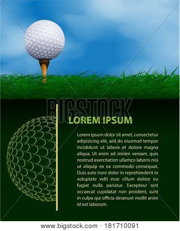 Template for creating a design for a golf layout