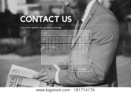 Contact Us Blank Form Banner Online