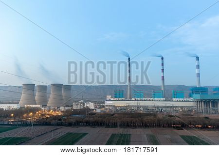 modern thermal power plant in pingliang city gansu provinceChina