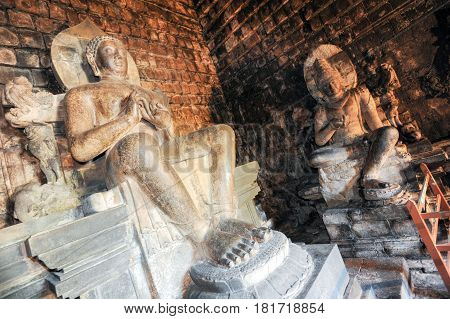 Buddha Statues Of Mendut Buddhist Temple In Central Java