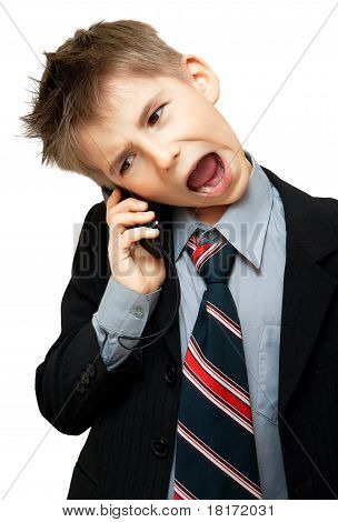 Boy In Suit Yelling