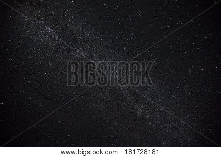 Beautiful night starry sky scene with milkyway