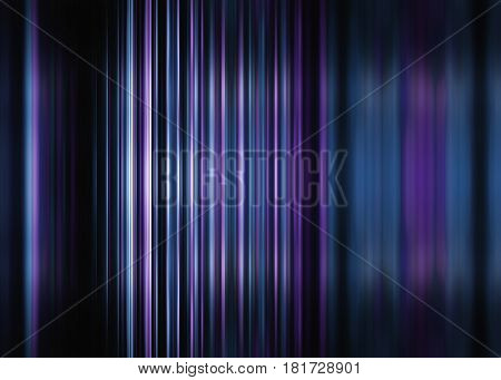 Purple and blue motion blur striped background with selective focus