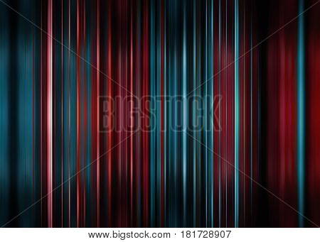 Red and blue motion blur background with selective focus