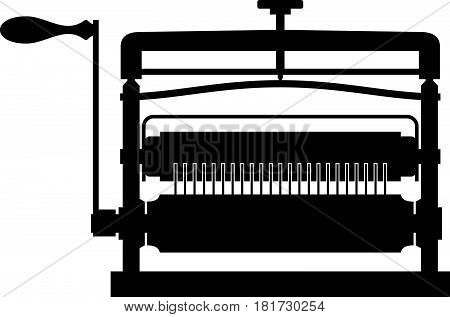 Pasta maker ( shade picture ) on white