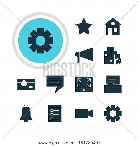 Vector Illustration Of 12 Web Icons. Editable Pack Of Board, Document Directory, Capture And Other Elements.