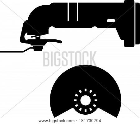 Oscillating tool ( shade picture ) on white background