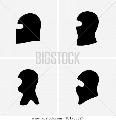 Set of four terrorist masks ( shade pictures )