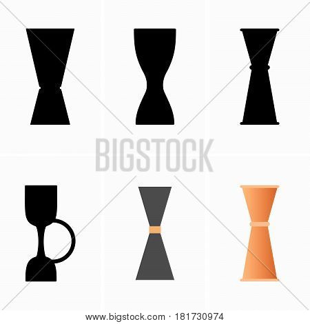 Set of six jiggers ( shade pictures )