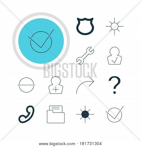 Vector Illustration Of 12 Interface Icons. Editable Pack Of Share, Remove, Register Account And Other Elements.