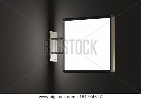 Blank Light Box Sign