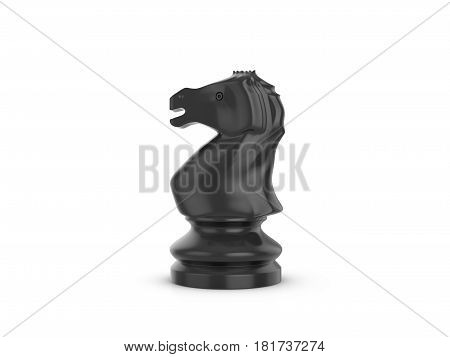 Chess knight on a white background. 3d illustration.