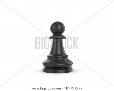 Chess pawn on a white background. 3d illustration.