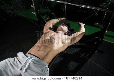 Bodybuilder Resting After Weight Training