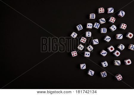 Black Space Of Luck Dice