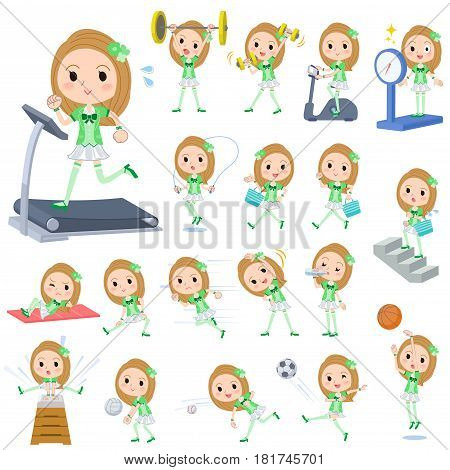 Pop Idol In Green Costume Sports & Exercise