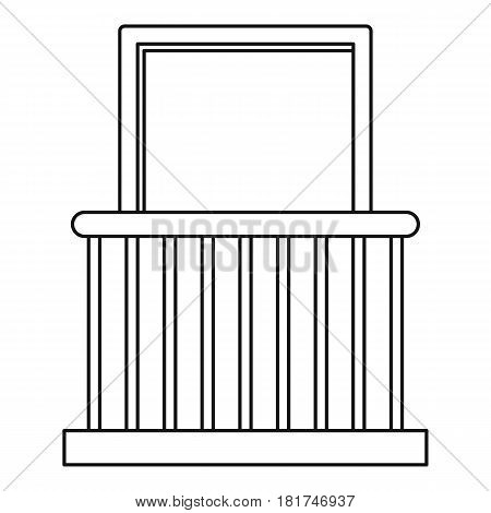 Small balcony with window icon. Outline illustration of small balcony with window vector icon for web