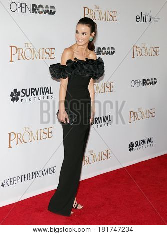 Charlotte Le Bon at the Los Angeles premiere of 'The Promise' held at the TCL Chinese Theatre in Hollywood, USA on April 12, 2017.