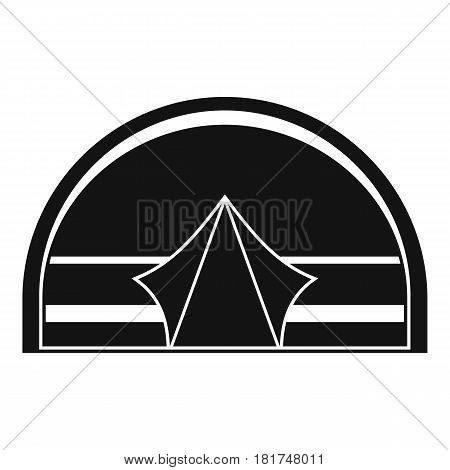 Semicircular tent icon. Simple illustration of semicircular tent vector icon for web