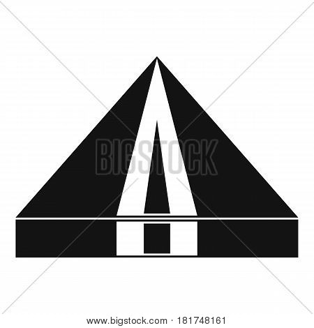 Tourist camping tent icon. Simple illustration of tourist camping tent vector icon for web