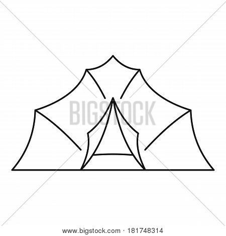 Large tent icon. Outline illustration of large tent vector icon for web