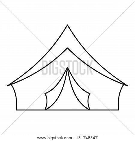 Tourist camping tent icon. Outline illustration of tourist camping tent vector icon for web