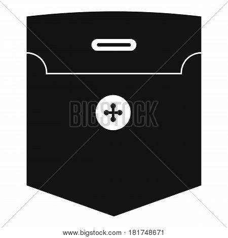Fashion pocket for shirt icon. Simple illustration of fashion pocket for shirt vector icon for web