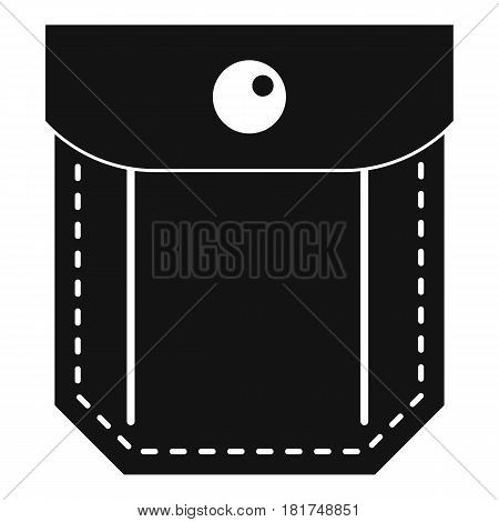 Pocket with valve and button icon. Simple illustration of pocket with valve and button vector icon for web