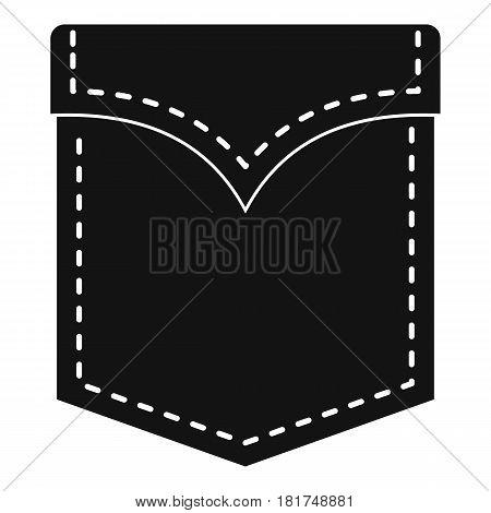 Black valve pocket icon. Simple illustration of black valve pocket vector icon for web