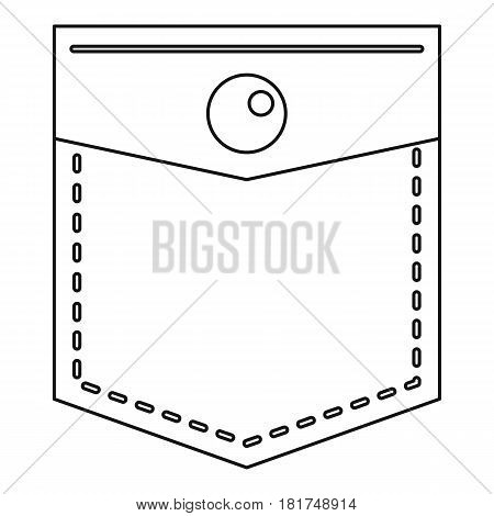 Pocket icon. Outline illustration of pocket vector icon for web