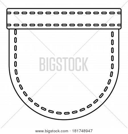 Pocket symbol icon. Outline illustration of pocket symbol vector icon for web