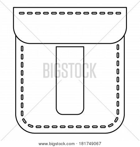 Pocket design icon. Outline illustration of pocket design vector icon for web