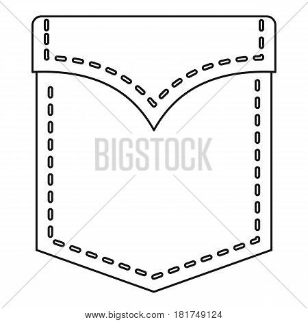 Abstract pocket icon. Outline illustration of abstract pocket vector icon for web