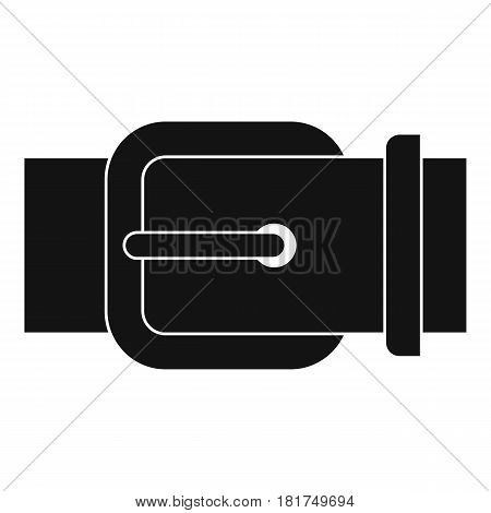 Elegant leather trousers belt icon. Simple illustration of elegant leather trousers belt vector icon for web