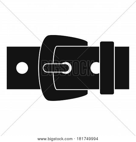 Black metal belt buckle icon. Simple illustration of black metal belt buckle vector icon for web