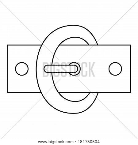Oval buckle icon. Outline illustration of oval buckle vector icon for web