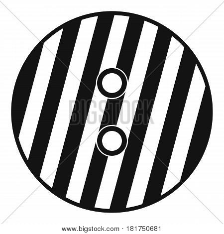 Striped sewing button icon. Simple illustration of striped sewing button vector icon for web