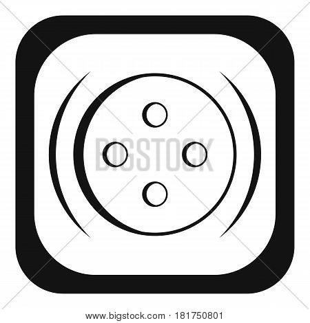 Clothing square button icon. Simple illustration of clothing square button vector icon for web