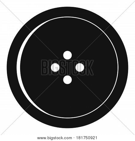 Round sewing button icon. Simple illustration of round sewing button vector icon for web