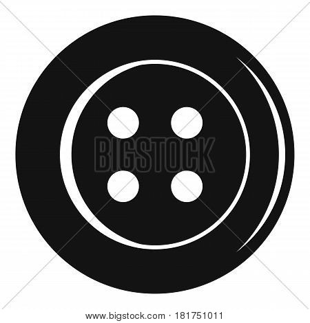 Sewing button icon. Simple illustration of sewing button vector icon for web