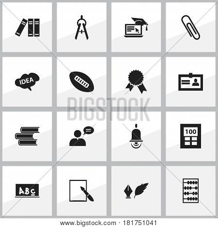 Set Of 16 Editable Graduation Icons. Includes Symbols Such As Literature, Notepaper, Certification And More. Can Be Used For Web, Mobile, UI And Infographic Design.