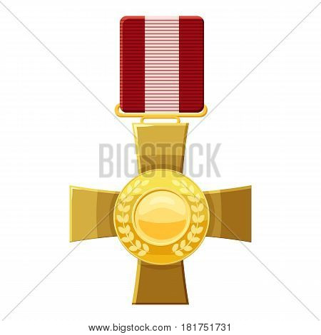 Military cross icon. Cartoon illustration of military cross vector icon for web