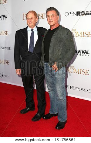 LOS ANGELES - APR 12:  Mike Medavoy, Sylvester Stallone at the