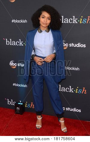 LOS ANGELES - APR 12:  Yara Shahidi at the