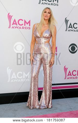 LAS VEGAS - APR 2:  Brittany Kerr at the Academy of Country Music Awards 2017 at T-Mobile Arena on April 2, 2017 in Las Vegas, NV