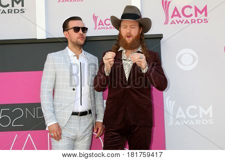 LAS VEGAS - APR 2:  Brothers Osborne at the Academy of Country Music Awards 2017 at T-Mobile Arena on April 2, 2017 in Las Vegas, NV